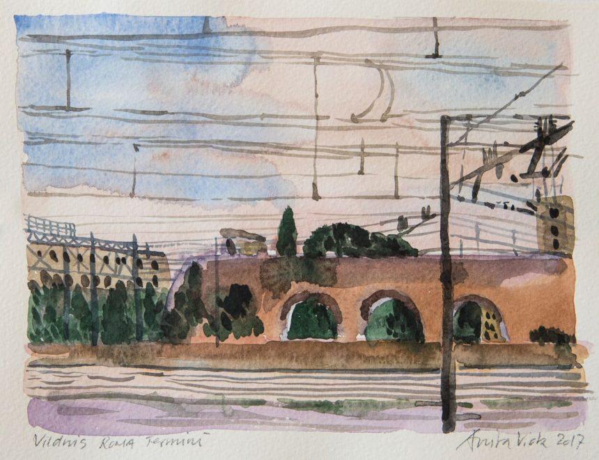 Akvarelkursus Rom Anita Viola Nielsen (2)