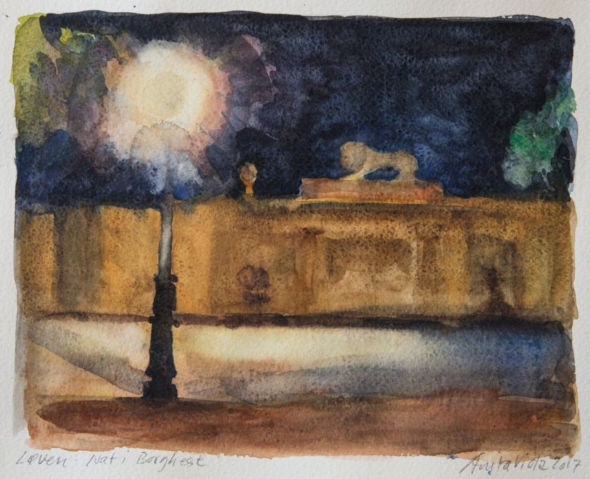 Akvarelkursus Rom Anita Viola Nielsen (4)