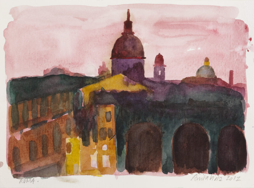 Akvarelkursus Rom Anita Viola Nielsen (5)