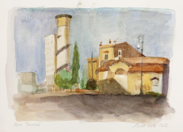 Akvarelkursus Rom Anita Viola Nielsen (7)