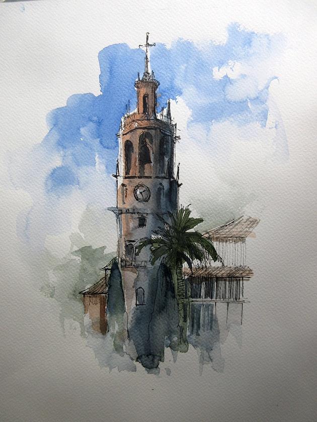 Akvarelkursus Ronda Spanien (5)
