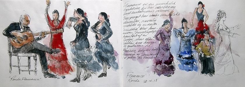 Akvarelkursus Ronda Spanien (8)