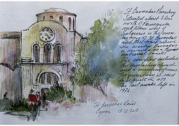 Akvarelkursus Cypern (1)
