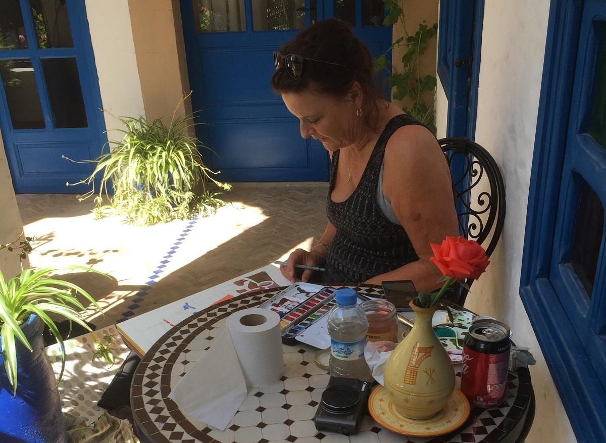 Malerejse Marokko Essaouira Kreativt Netværk
